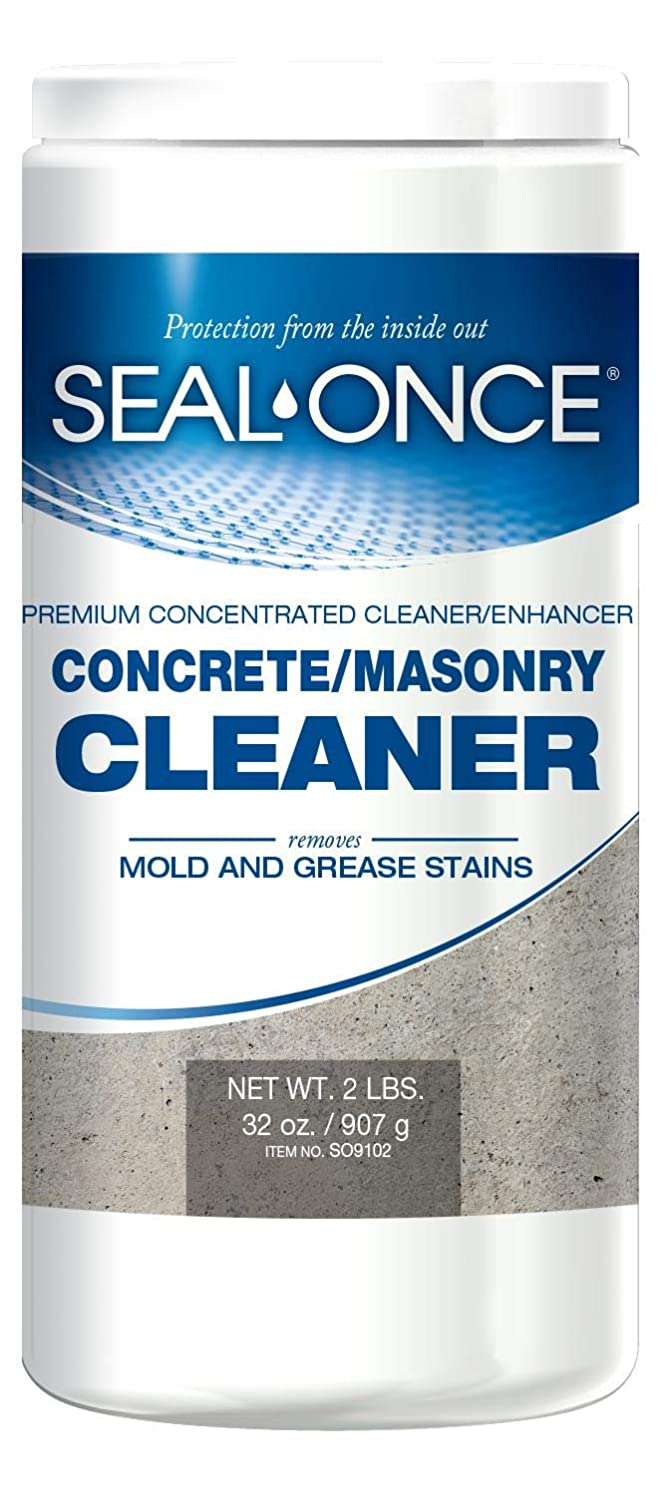 SEAL-ONCE Concrete & Masonry Cleaner, 2 lbs, Cleans & Enhances Surfaces for Application of Sealer