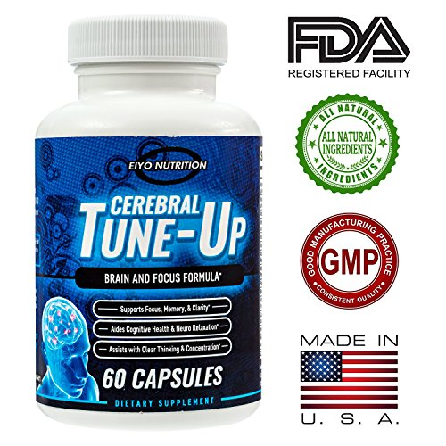 Brain Supplement - Cerebral Tune-Up, Brain and Focus Formula, Focus, Memory, Clarity, Cognitive Health, Clear Thinking and Concentration, Neuro Pill, Energy, Memory Support, Nutritional Supplement (Energy Support Formula)