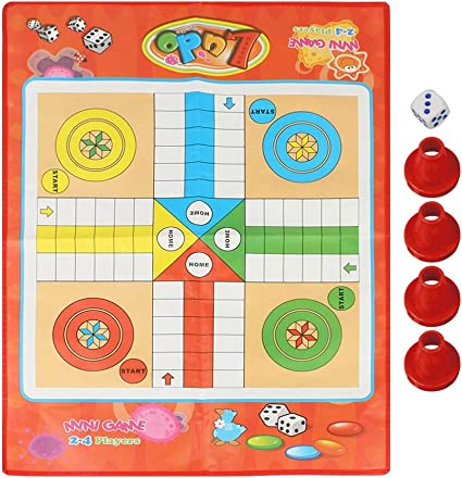 Classic Family Parcheesi Travel Set 10 Inches Mart NS Folding Magnetic Ludo Board Game