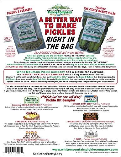 "White Mountain Pickle Company""Pickle On The Edge"" Sampler Pickling Kit - 6 Pack"