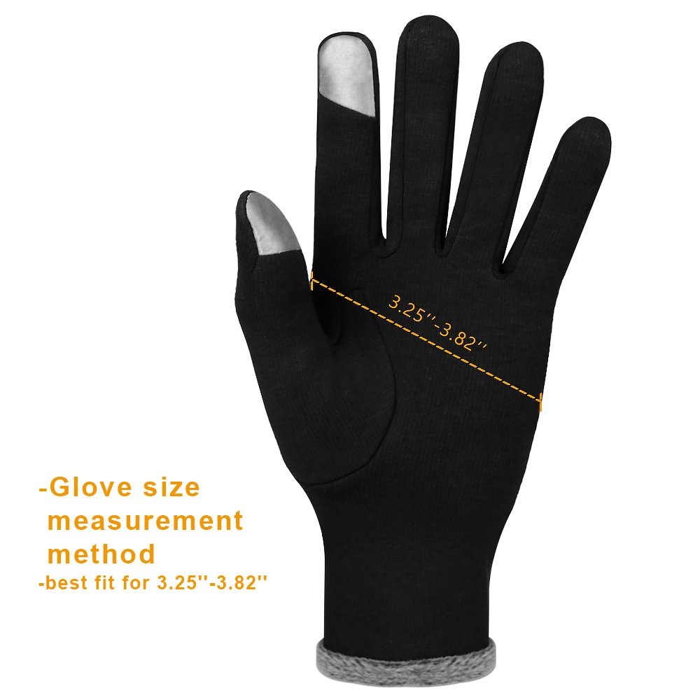 Winter Touch Screen Gloves,IEKA Thick Warmest Windproof Gloves,Fashion Touch Screen Fingers,Suitable for Smartphones and Touchscreen Devices - Black by IEKA (Image #6)