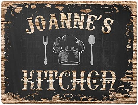 Joanne S Kitchen Chic Sign Vintage Retro Rustic 9 X 12 Metal Plate Store Home Kitchen Wall Decor Gift Amazon Ca Home Kitchen