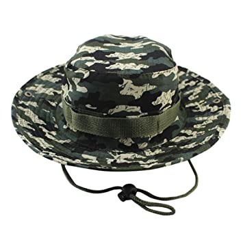 Maheegu 2018 Newest Fisherman Caps Sun Hat Adjustable Cap Camouflage Boonie  Hats Nepalese Cap Army Mens bb4853ce6c1d