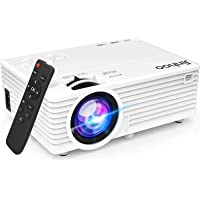 2021 Upgrade Projector, Mini Video Projector with 5500 LUX, 1080P Supported, Portable Outdoor Movie Projector, 176…