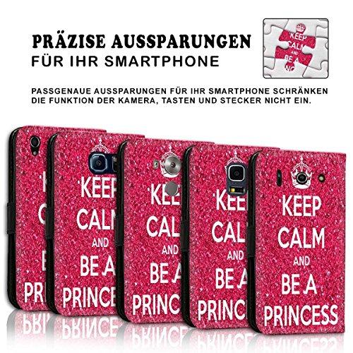 Wallet Book Style Flip Handy Tasche Case Schutz Hülle Schale Motiv Etui für Apple iPhone 6 / 6S - Design Flip MVD330