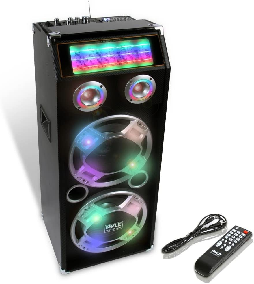 Pyle Wireless Active PA Speaker System With Disco Lights