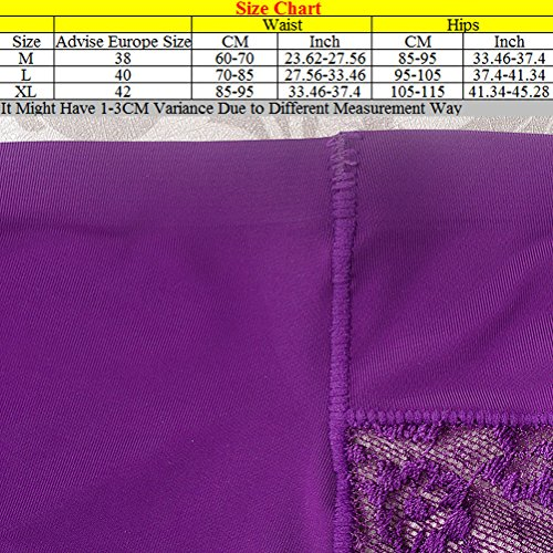 Zhhlinyuan Alta calidad Casual Ladies Hipster Panty Skin-friendly Lace Seamless Underwear Hot Pressing Lingerie Multicolor Blue