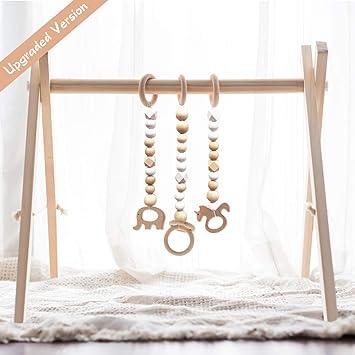 Amazon.com: Little Dove - Gimnasio de madera para bebé con 3 ...