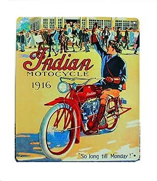 Amazon.com: Chapa para bicicleta indio Cartel de diseño ...