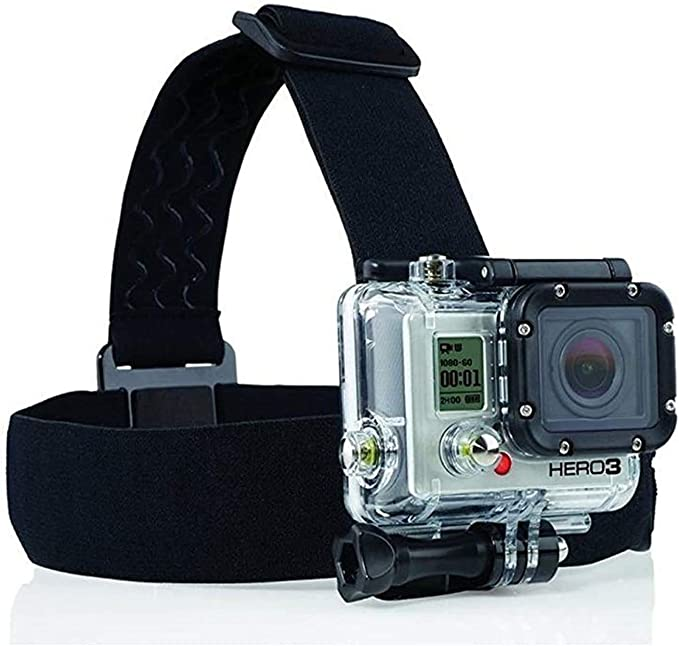 Compatible with The Denver ACT-8030W Action Camera Navitech 8-in-1 Action Camera Accessories Combo Kit