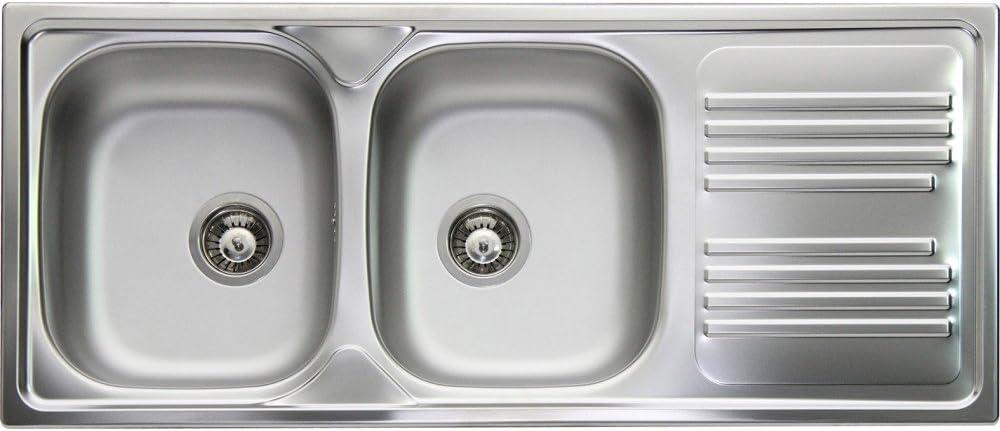 Apell Lavello Cucina Incasso 2 Vasche 116cm Acciaio Prelucido Atmosfera Tm1162irpc Amazon It Fai Da Te