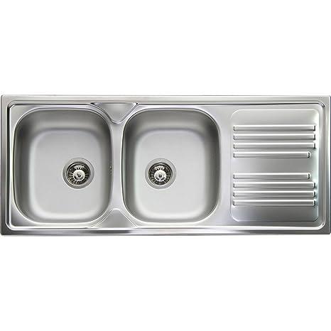 Apell Lavello Cucina Incasso 2 vasche 116cm Acciaio Prelucido ...