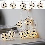 LED Batterie Lichterkette Fußball 10 Lichter warm weiß Indoor