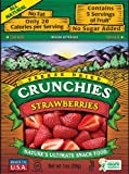 Crunchies Freeze-Dried Fruit Snack, Strawberries, 1-Ounce Pouches (Pack of 6)