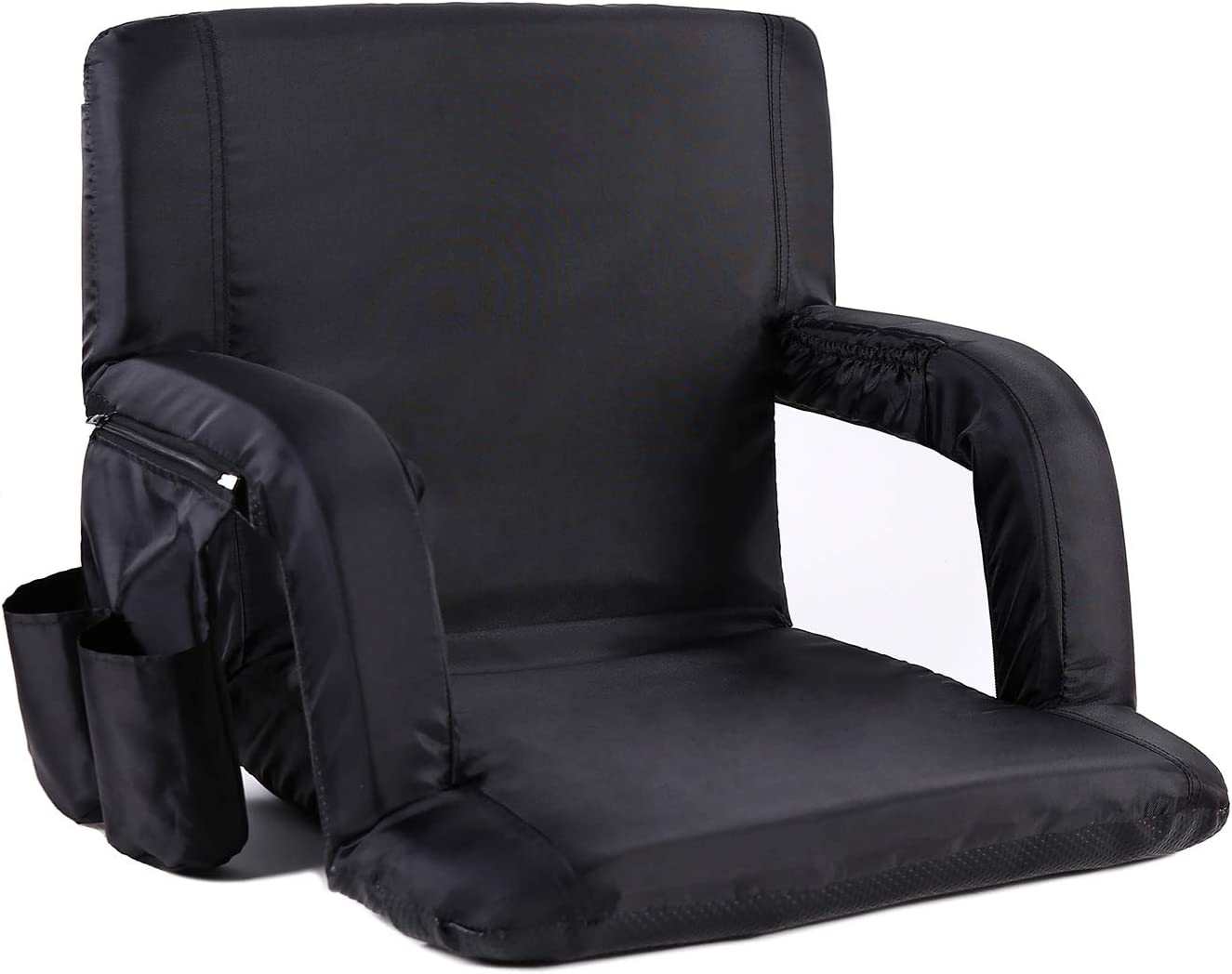 Sportneer Portable Stadium Seat Chair, Reclining Seat for Bleachers with Padded Cushion Shoulder Straps