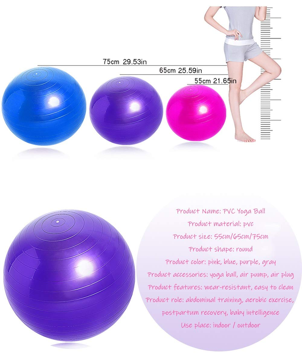 Pelota de yoga PVC Pilates Gimnasio Equilibrio Gimnasio Fitness ...