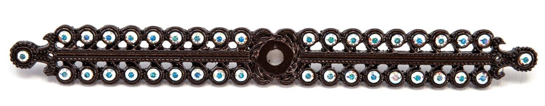 Carpe Diem Hardware 892-12AB Caché Escutcheon with Swarovski Crystals, Bronze