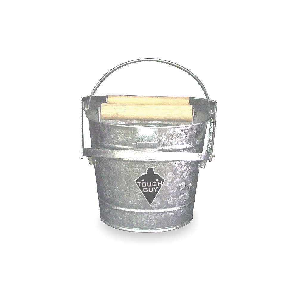 Mop Bucket and Wringer, 3 gal., Silver