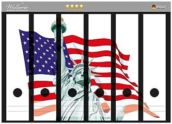 Archivadores diseño de Estatua de la libertad Estados Unidos en alta calidad - tamaño 36 x 30 cm, para archivadores{6}: Amazon.es: Hogar