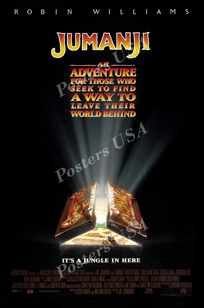 Jumanji Welcome to the Jungle Movie Poster Glossy Finish Posters USA MCP397