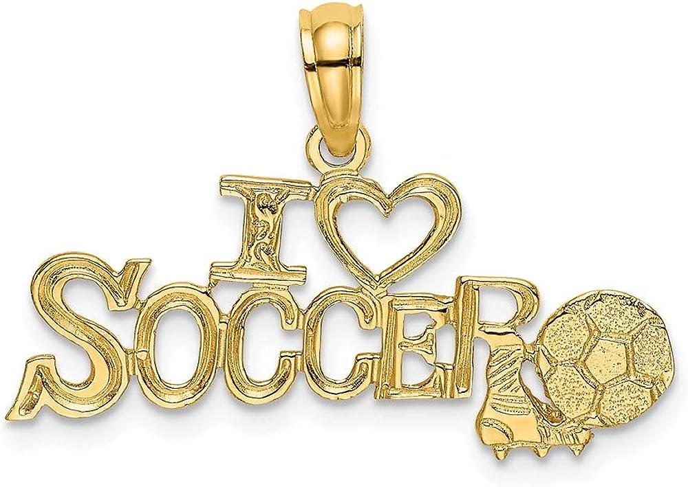 Colgante de oro amarillo de 14 quilates con diseño de corazón de ...
