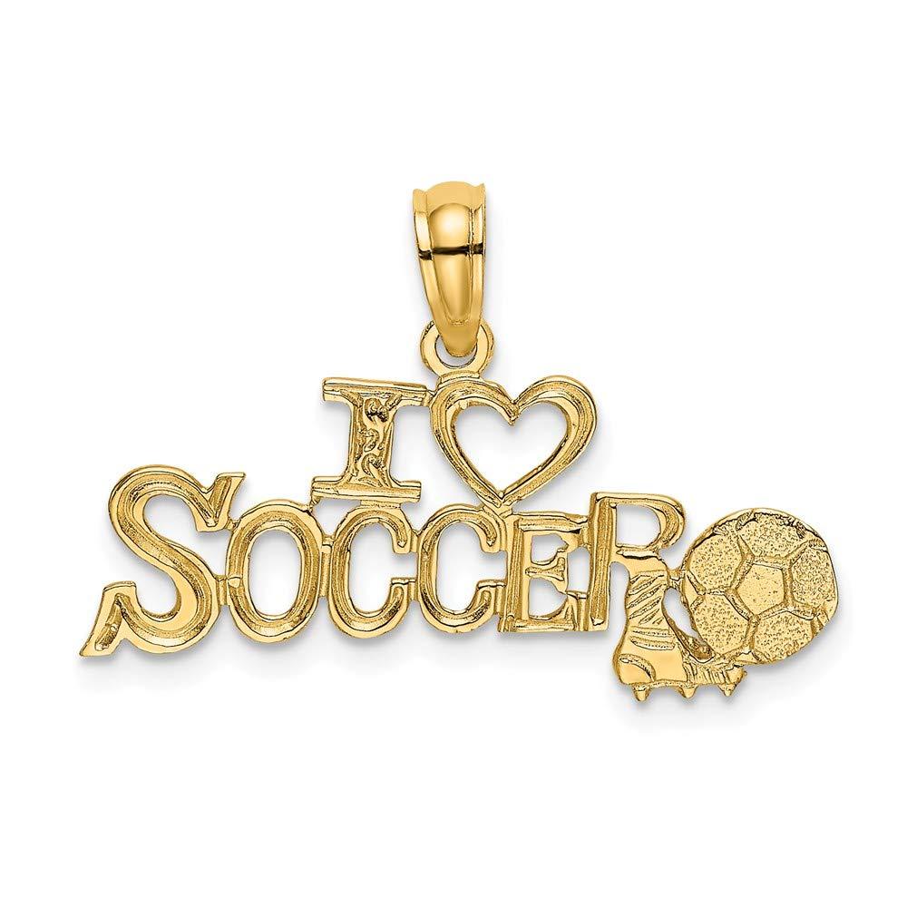 Abalorio de balón de fútbol de oro amarillo de 14 quilates con ...