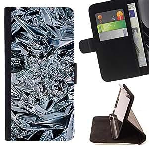 - Crystal Bling Ice Flashy - Estilo PU billetera de cuero del soporte del tir???¡¯???3n [solapa de cierre] Cubierta- For Sony Xperia Z3 D6603 ( Devil Case )