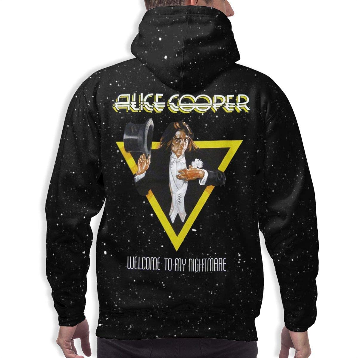 PatrickSmith Mens Alice Cooper Print Hoodie Long Sleeve Stylish Pullover
