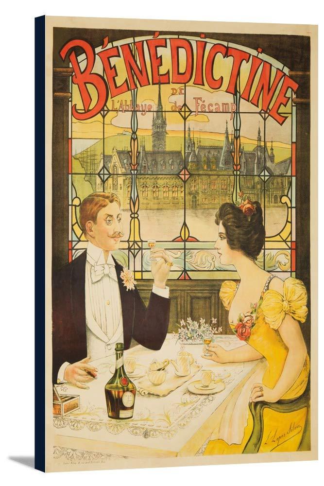 Benedictineヴィンテージポスター(アーティスト: Lopes Silva )フランスC。1898 24 x 36 Gallery Canvas LANT-3P-SC-61961-24x36 24 x 36 Gallery Canvas  B0184AZE9Y
