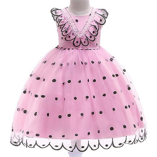 Vestido Fiesta Niña Falda Princesa Disfraz de Ceremonia Cumpleaños ...
