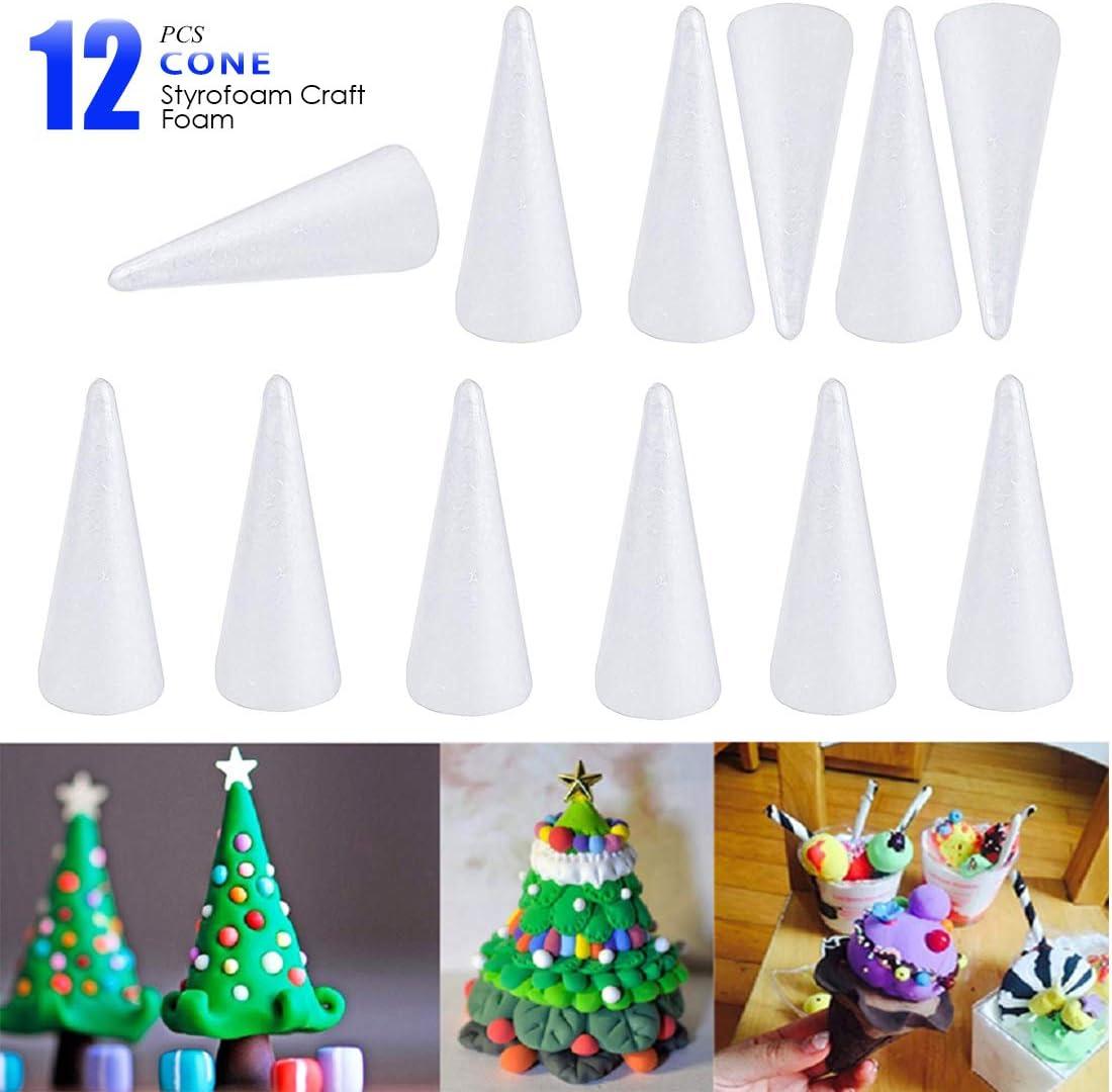Polystyrene Cones Wedding Christmas Craft Sweet Trees 6 sizes