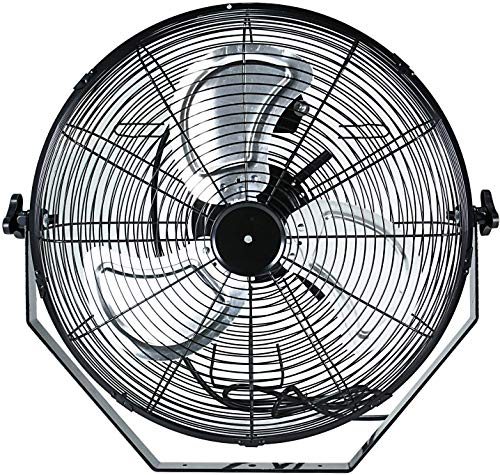 Simple Deluxe 18 Inch High Velocity 3 Speed for Industrial, Commercial, Residential, and Shop Use-ETL Safety Listed Wall-Mount Fan, Black