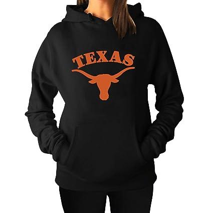 Las mujeres de la Universidad de Texas Austin Cool con capucha sudadera sudaderas con capucha negro: Amazon.es: Deportes y aire libre