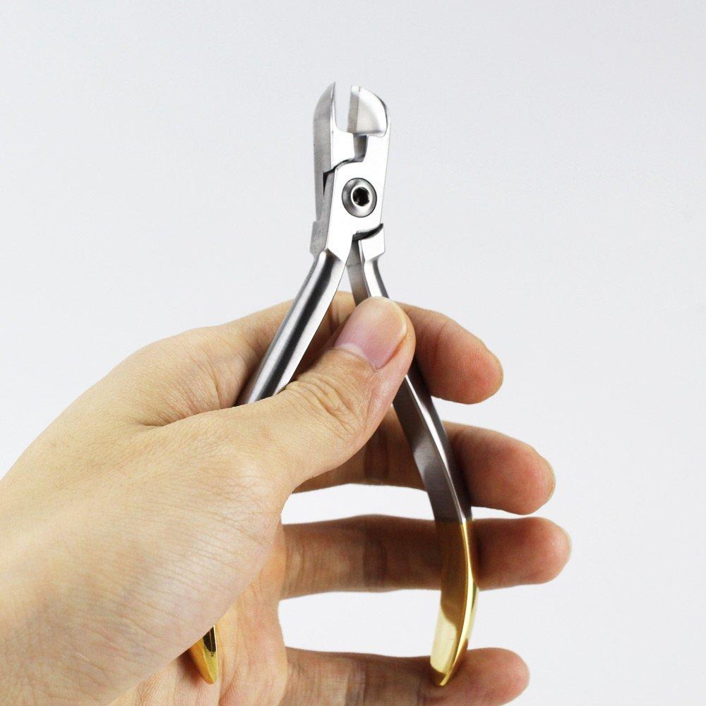 Earlywish Cortador de ligaduras ortodónticas dentales Cables de alicates Corte estándar Herramienta TUNGSTEN: Amazon.es: Industria, empresas y ciencia