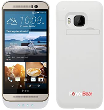 sale retailer 6f4d9 ed22a PowerBear® HTC One M9 Extended Rechargeable Battery Case with ...