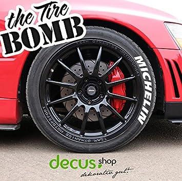 Michelin - Tire Bomb Tyre Stencils Neumáticos adhesivos color: Amazon.es: Coche y moto