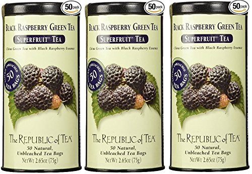 - The Republic Of Tea Black Raspberry Superfruit Green Tea 3 Pack (Black Raspberry, 3)