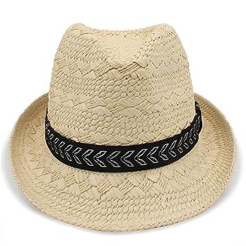 Sombrero Suave para Mujer Moda de Verano de Paja para Hombre Sombreros para  el Sol Trilby d06f9914b7d