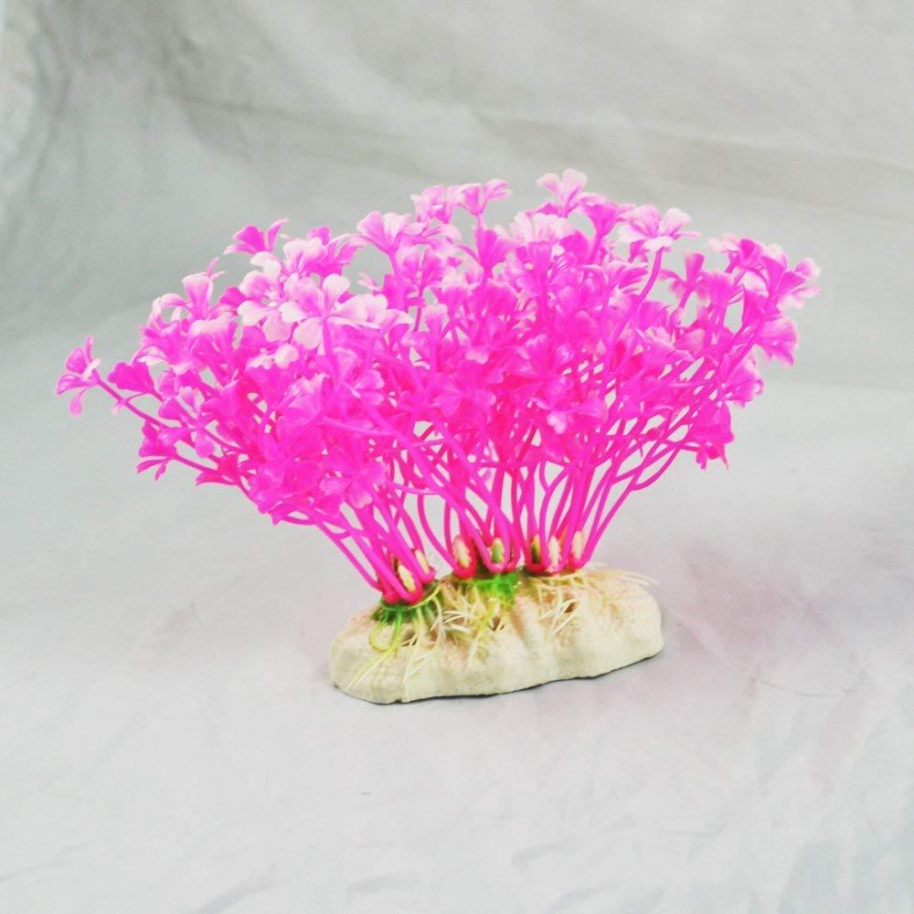 Newin Star Hierba//Planta acu/ática Artificial pl/ástico Decoration para Acuario Dise/ño de Flor de Pecher
