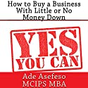 How to Buy a Business with Little or No Money Down Audiobook by Ade Asefeso - MCIPS MBA Narrated by Francie Wyck