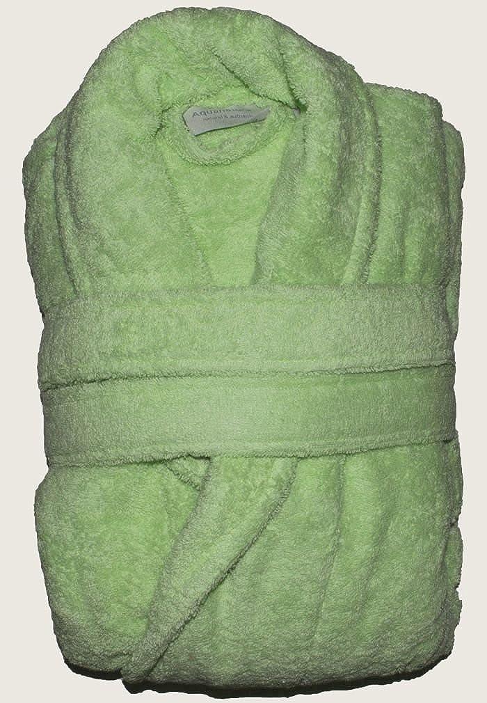 Aquanatura - Peignoir en coton Bio, coloris Vert tilleul, Taille XL