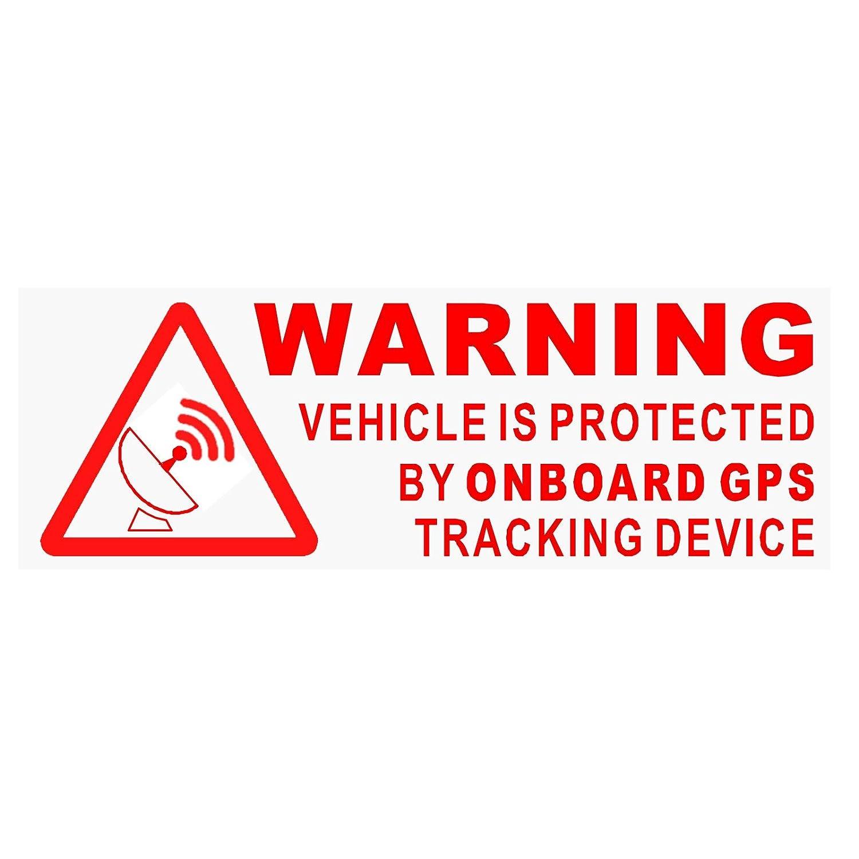 5 x Warnung an Bord GPS-Tracking Gerä t stickers-red/clear-car, Van, Boot, Zeichen, sicherer, Sicherheit, Schutz, Sicherheit, Alarm, Dash, beachten,, Abschreckung, Schutz, Sicherheit, sichere Platinum Place