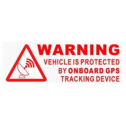 5 x Warning On Board GPS dispositivo de seguimiento stickers-red/clear-car, Van, barco, señal, seguro, Seguridad, Protección, seguridad, alarma, Dash, ...