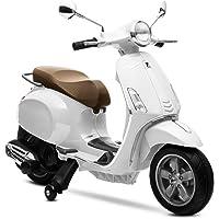 Playkin Moto eléctrica Vespa Blanca, Color (1)