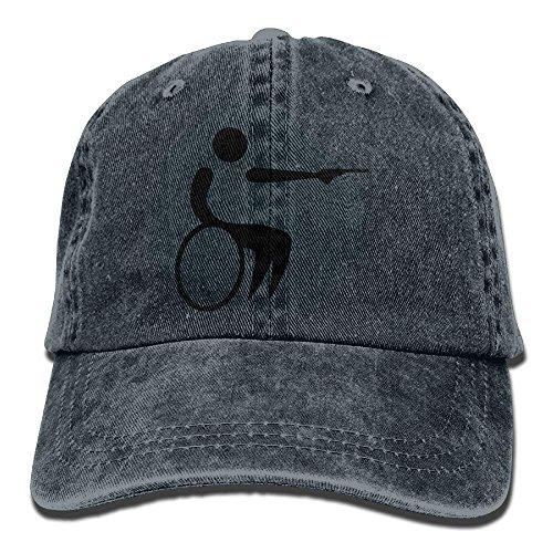 Wheelchair Skull Sport for Cowboy DEFFWB Hats Men Denim Cap Hat Cowgirl Women Gun Handicap BtnwfAq