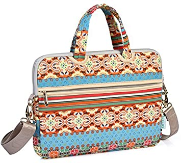 188b8027aef6 Kayond® 11-15 Inch Canvas Fabric Ultraportable Neoprene Laptop Carrying  Case   Shoulder Messenger