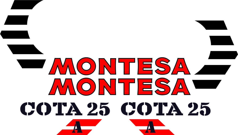 m/áxima Calidad. Juego Pegatinas Completo Vinilo para Moto Kit de adhesivos motos clasicas MONTESA COTA 25A