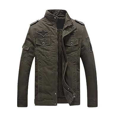 Geili Herren Windjacke Große Größen Mantel Baumwolle Militär Jacke Fruhling Herbst Taschen Übergangsjacke Parka Pilotenjacke Männer Feldjacke
