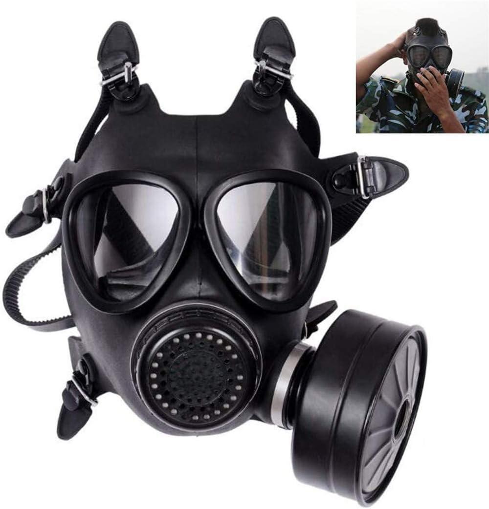 XIAOCUI Máscara de Gas, táctico Dummy Anti Niebla máscara de Gas con Turbo Ventilador Airsoft paintbal protección Gear