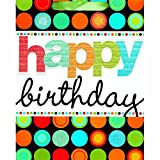 "Amscan Fun Modern Birthday Dots Universal Specialty Bag, Multicolor, 13"" x 10 1/2"" x 5"""
